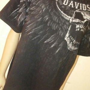 Black and white Harley Davidson shirt. XL
